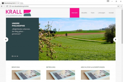 Krall Webseite