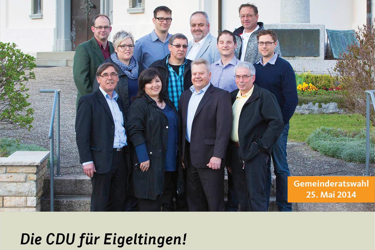 CDU Gemeinderatswahlen 2014 Eigeltingen