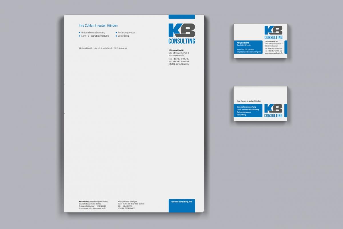 KB Consulting Briefpapier und Visitenkarten