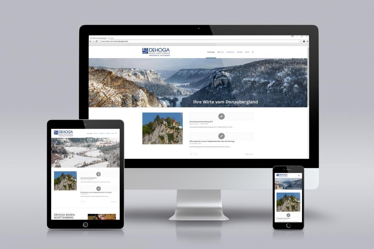 DEHOGA - Wirte vom Donaubergland Internetauftritt